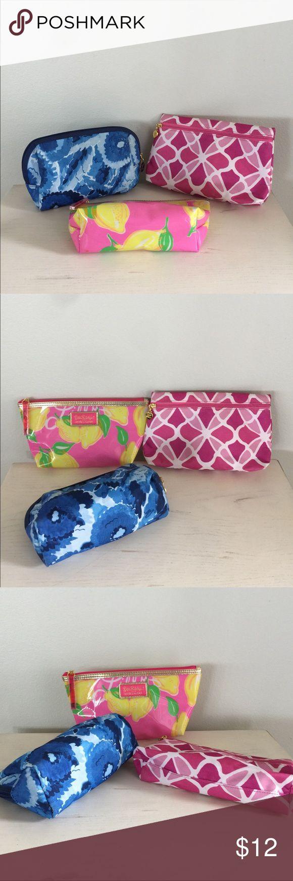 Estee Lauder lot of 3 cosmetic make up bags Bundle of