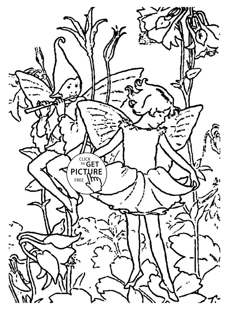 flower fairies columbine coloring page for kids for girls coloring pages printables free. Black Bedroom Furniture Sets. Home Design Ideas