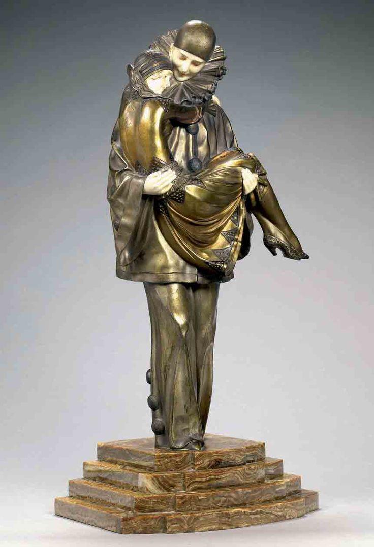 Demetre Chiparus  Romanian Art Deco era sculptor Demetre h. Chiparus (1886-1947) | Animated bronze ... Dance