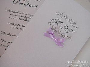 Bröllopsprogram med Strass (16 Färger). Skimmer papper 20 sek/ st