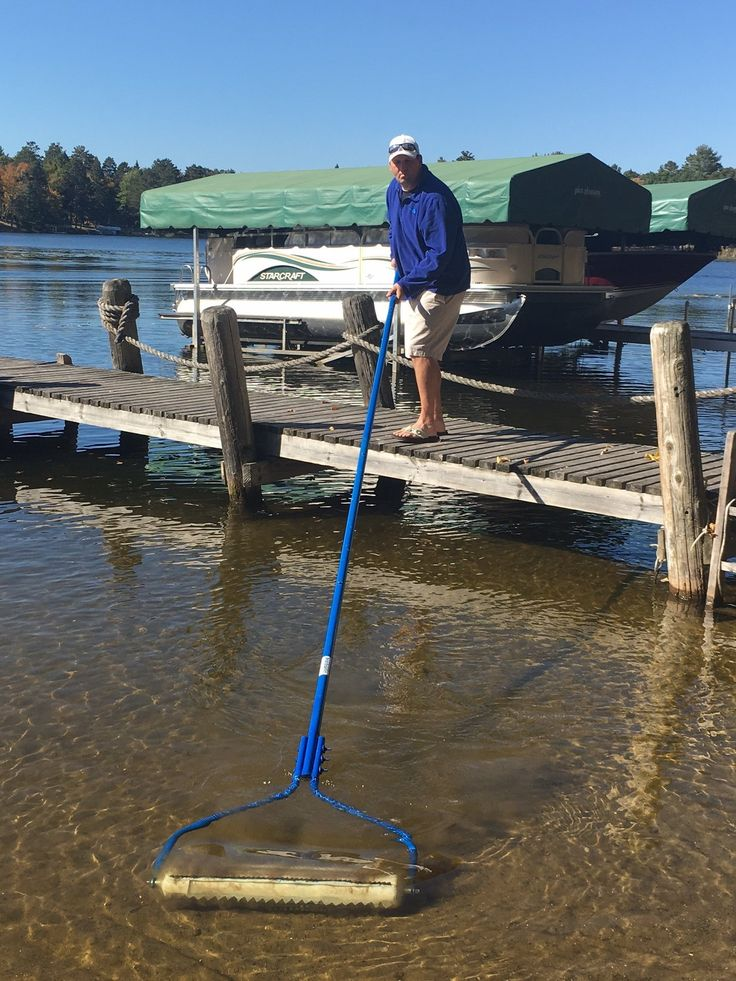BEACHROLLER - Weeds Muck Silt GONE! Lake weed removal tool. NEW 2017 aluminum handle model. Gets to the problem... THE LAKE BOTTOM!. Cuts the lake weeds. Rips out the roots, so weeds do not grow back. Blast up the muck and silt, getting down to the hard bottom. Simple and easy to use for everyone. Works in very shallow water to deeper water plus hard to reach areas around the dock. No maintenance required. Blades never need to be sharpened. No power required. No complex set-up. No permit...