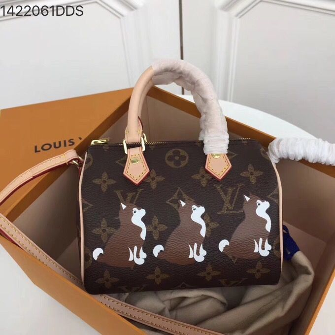 cae65e2fb44f Louis Vuitton lv mini speedy 16cm nano size doggy style original leather  version