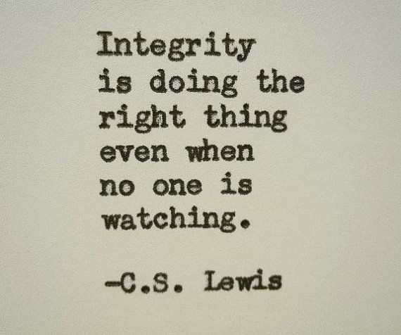 C.S. LEWIS quote inspirational quote Literary quote graduation gift integrity