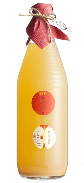 Very cute and very simple design. I like how there is a texture on the bottle And the design is aligned center. Nice apple illustration.