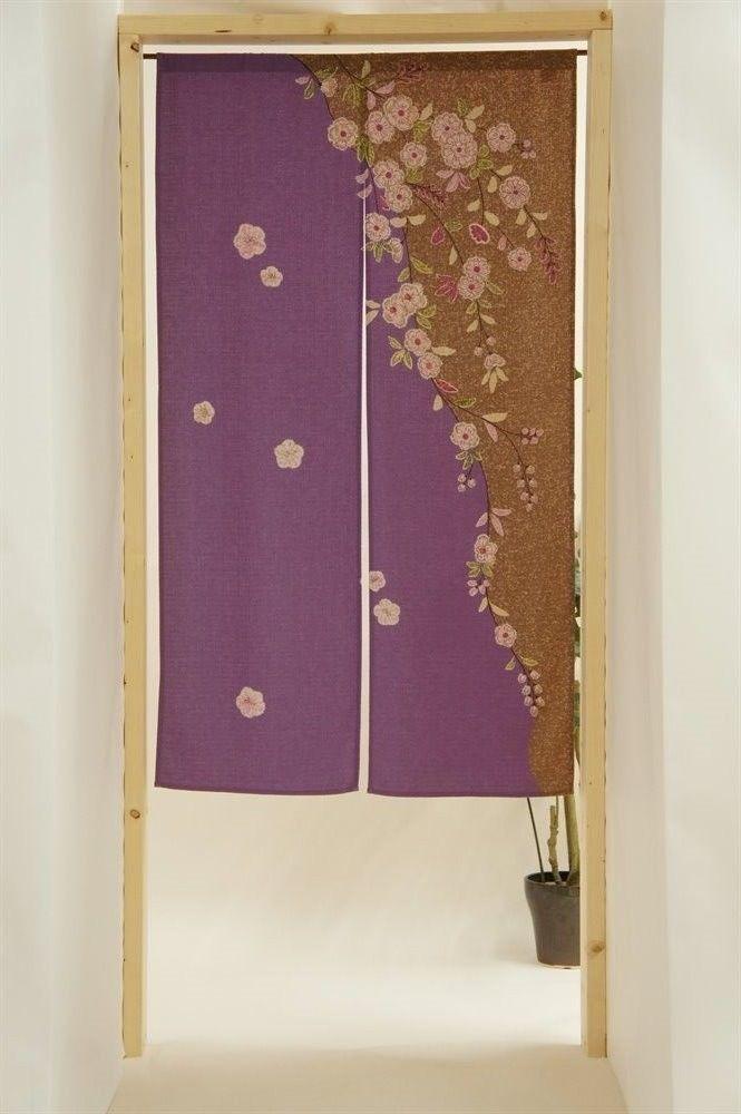 Long Japanese Noren Curtain Sakura Fortune Cat Japan Tapestry for Doorway