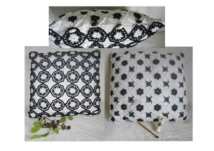 Crochet Lace Motif Cushion Kit