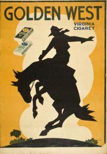 Golden West Virginia sigaretter reklameplakat