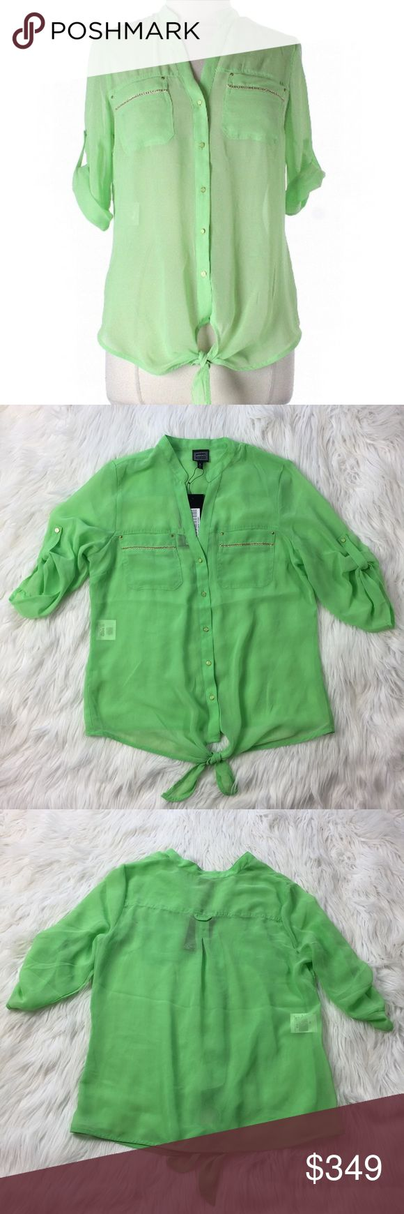 Versace BRAND NEW! Never worn no longer produced tags still attached. (Picture is of actual garment) Fit sizes MED and LRG (LLR3-0189) Versace Tops Blouses
