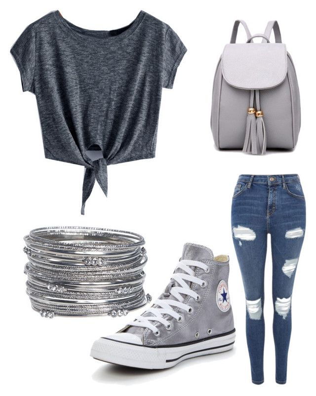 """""""Untitled #56"""" by nikollpetrova225 on Polyvore featuring Topshop, Converse and Avenue"""