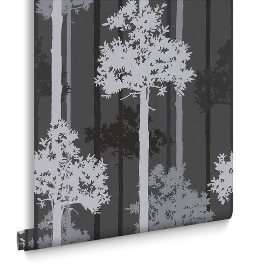 Nottingham Black and Silver Wallpaper