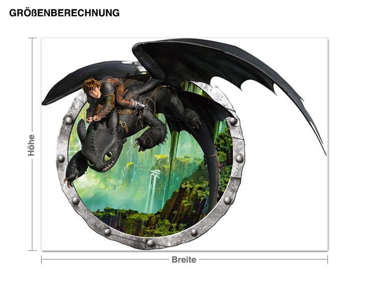 Cute Wandtattoo Dragons Hicks und Ohnezahns Abenteuer