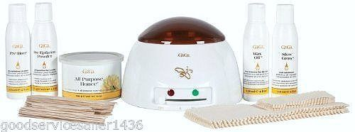 Gigi Wax Warmer Student Starter Kit Waxing Honee Epilation Powder Natural Muslin #GiGi