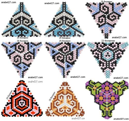 Bead weaving triangles