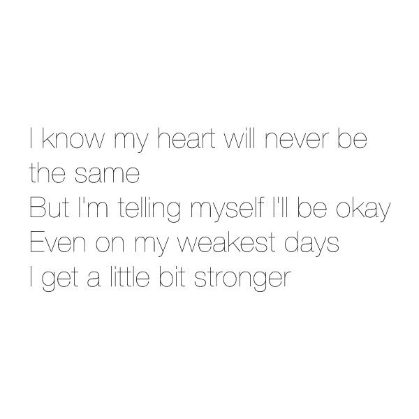A little bit stronger lyrics ❤ liked on Polyvore