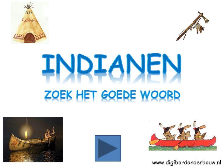 *▶ Indianen: Zoek het goede woord!
