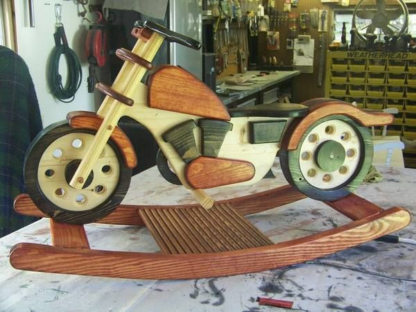 Best 44 vehicles images on pinterest other for Woodworking plan for motorcycle rocker toy