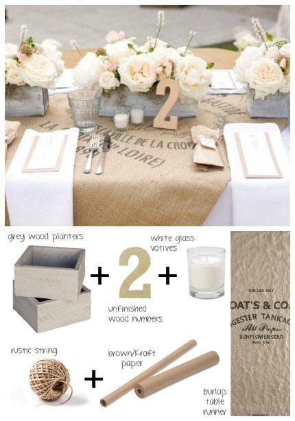 Burlap & Blush Tablescape via Southbound Bride & Photos by Tonya Peterson Photography