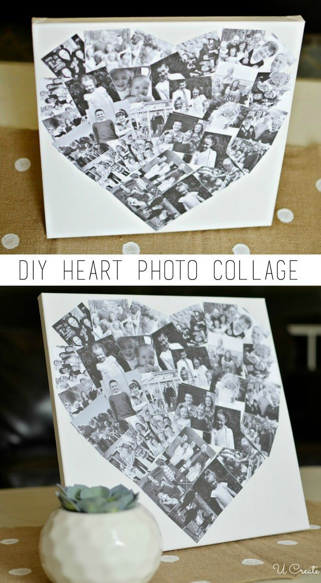 Picture Collage Gift Custom Heart Collage for Family Housewarming Gift for Family Personalized Family Gift Family Home Sign Wall D\u00e9cor
