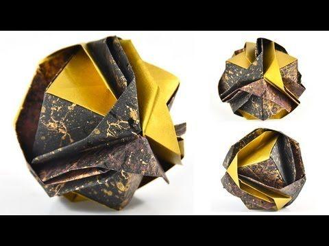 """Origami Jewelry Box: """"Japanese Brocade"""" Designed by Minako Ishibashi - YouTube"""