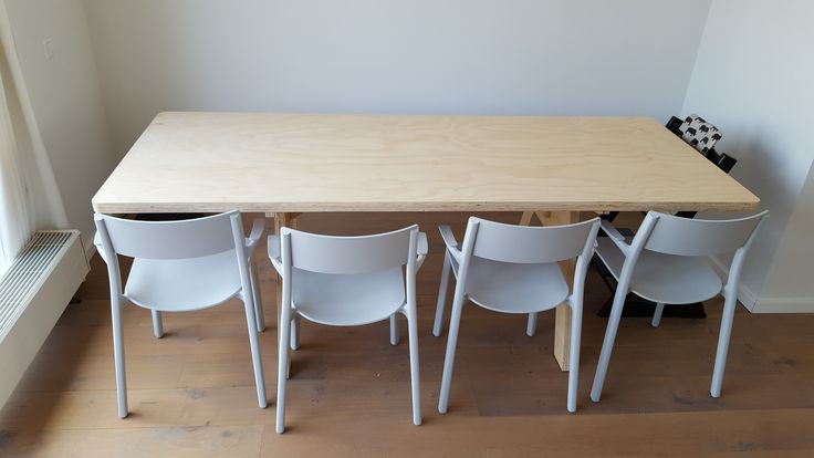 dining table made of underlayment