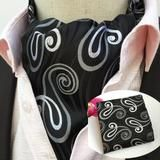 Ascot Tie - Black Waves