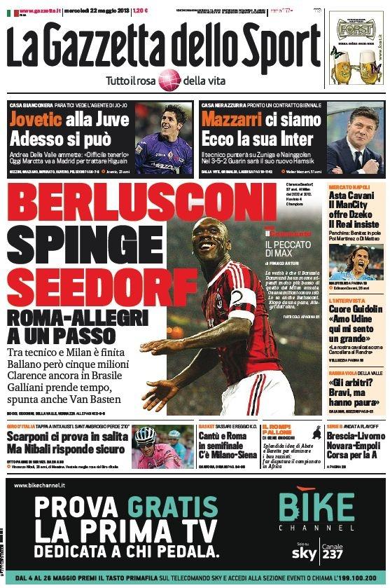 La Gazzetta dello Sport (22-05-13) Italian | True PDF | 44 22 pages | 9,78 3,96 Mb