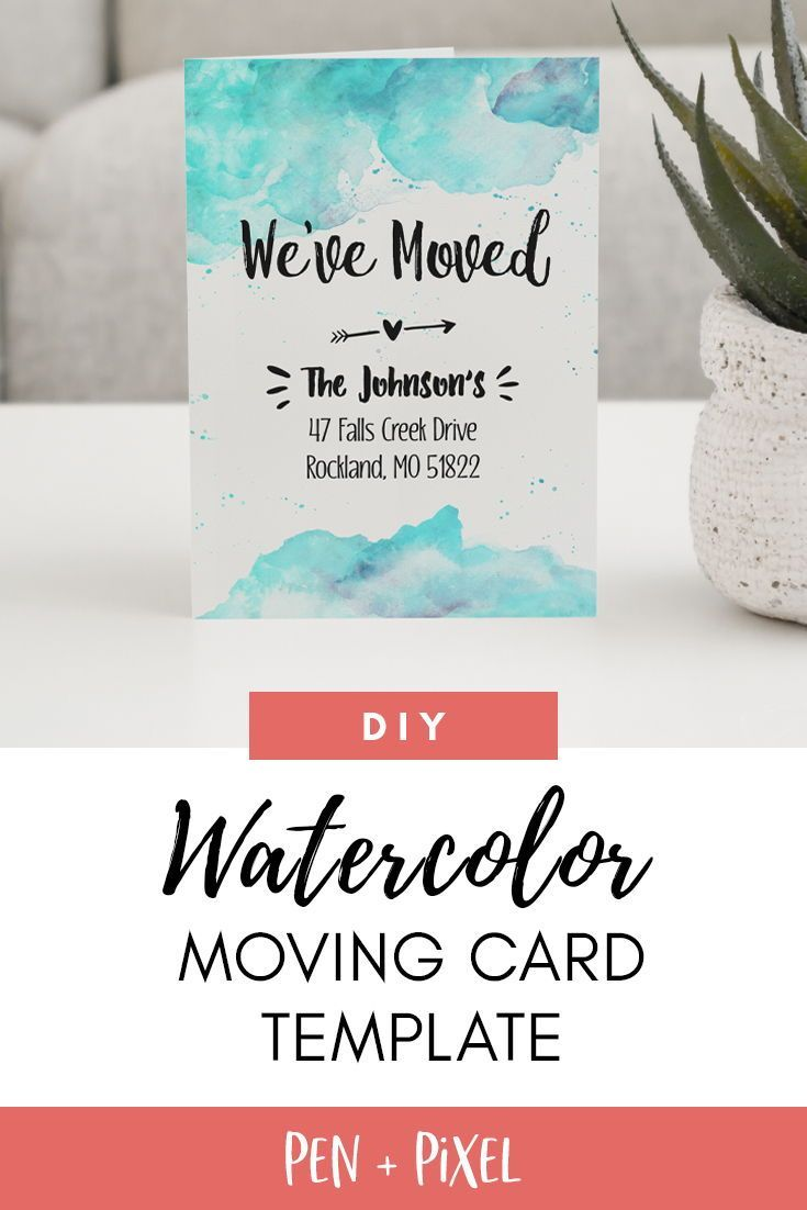 Moving Announcement New Home Moving Change Of Address Within Moving Home Cards Template Change Of Address Cards Moving Announcements Moving Announcement Diy