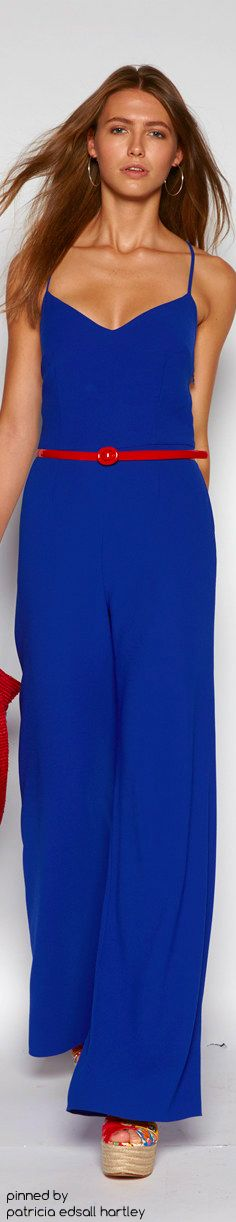 SPRING 2016 READY-TO-WEAR Polo Ralph Lauren blue dress women fashion outfit clothing style apparel @roressclothes closet ideas