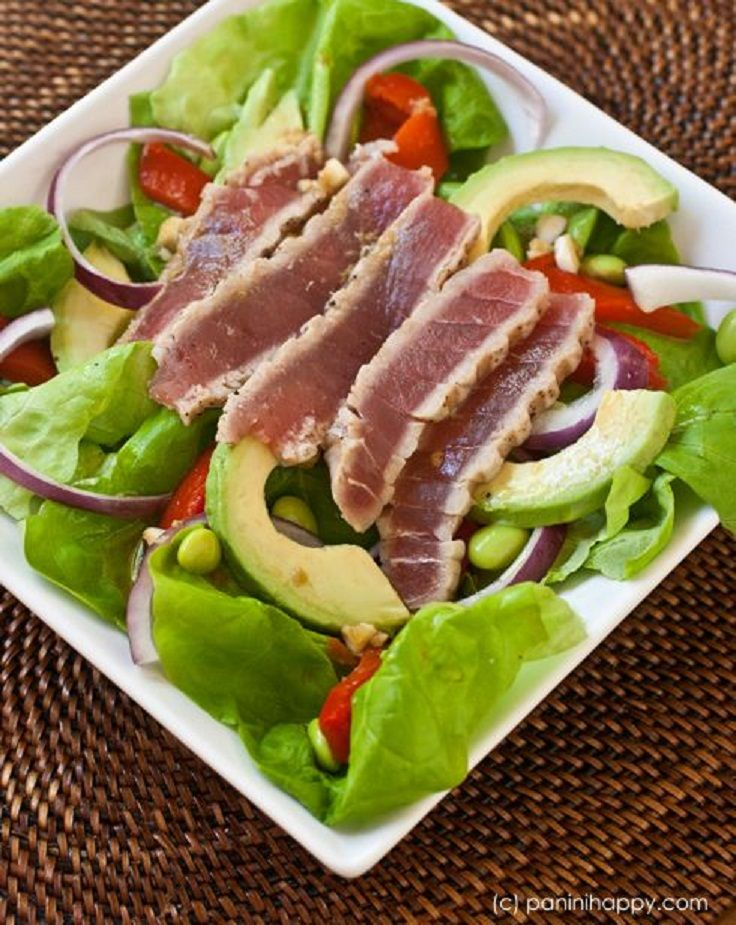 15 Salad Recipes with Avocado. And is that tuna I see on top? Sure looks like it!