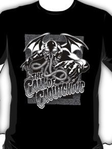 The Call of Caoutchouc - White T-Shirt by 3xL