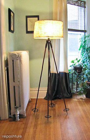 ski pole lamp!!!! I love it!!