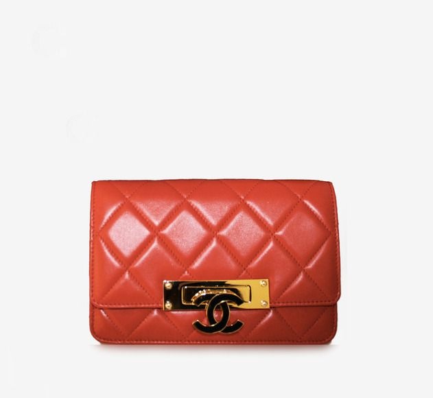 Red And Gold Shoulder Bag / by Chanel