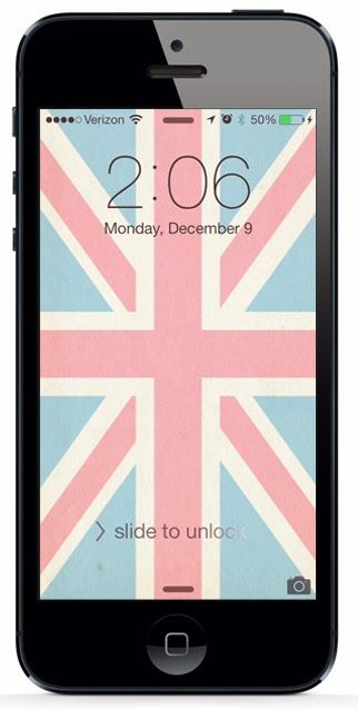Free Union Jack iPhone 5 Wallpaper Download