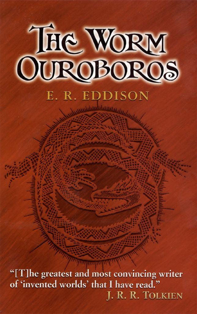 The Worm Ouroboros by E. R. Eddison  'An eccentric masterpiece'--Ursula K. LeGuin'A new climate of the imagination'--C. S. Lewis'A masterpiece'--James StephensThis is the book that shaped the landscape of contemporary science fiction and fantasy. When The Lord of the Rings first appeared, the critics inevitably compared it to this 1922 landmark work. Tolkien himself frankly acknowledged its influence, with warm praise for its imaginative appeal. The story of a...