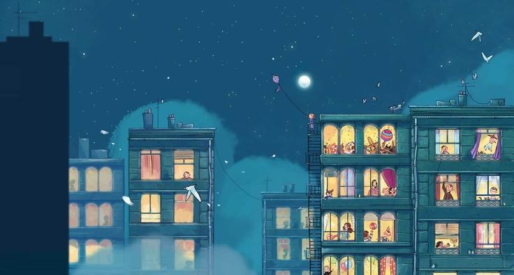 Aurélie Neyret illustration: Bedtime is canceled