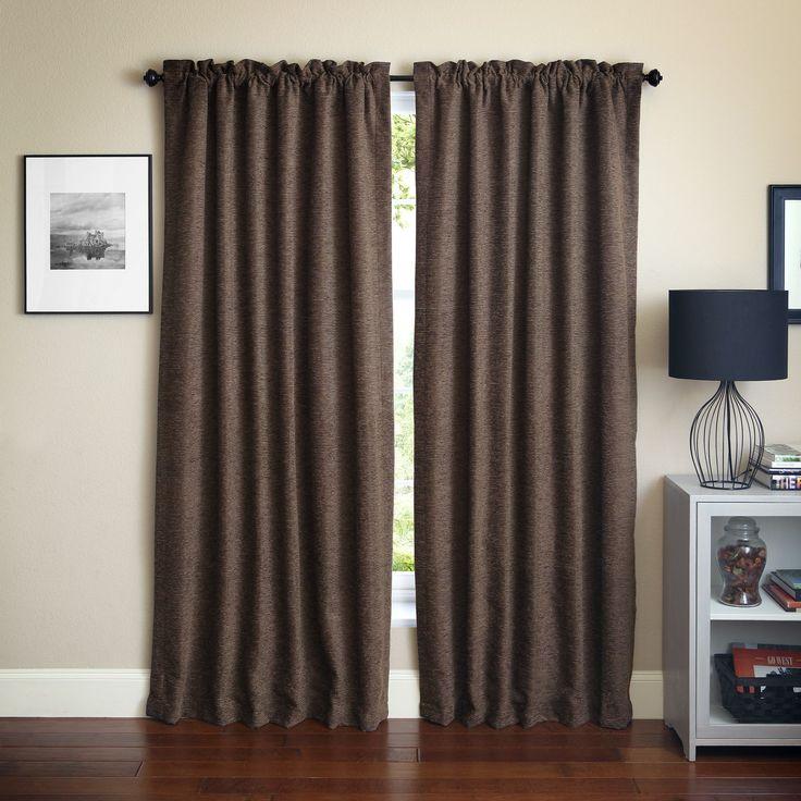 Blazing Needles 'Vermont' Patterned Jacquard Chenille Curtain Panels