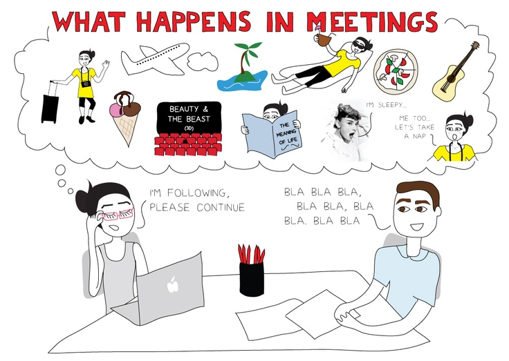 That's why most meetings are useless. Email is SO much more effective. And yet... people are still requesting meetings!: Request Meeting