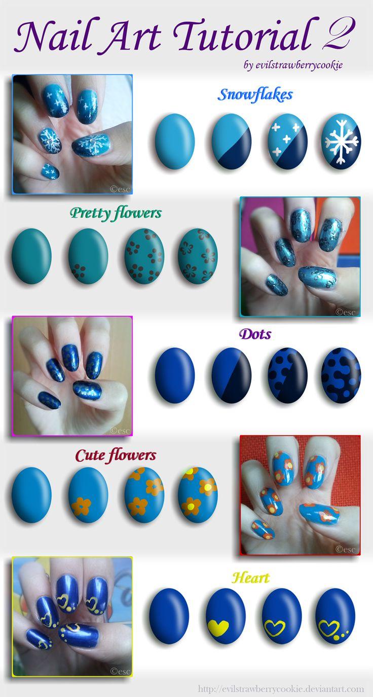 Nail Art Tutorial 2 by evilstrawberrycookie.deviantart.com on @deviantART