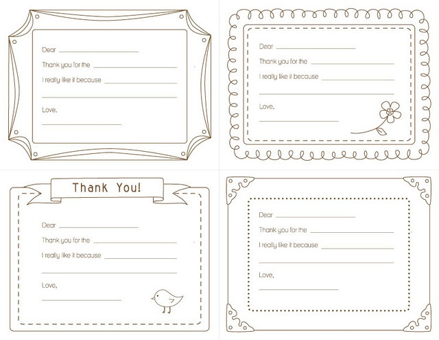 kids printable fill in the blank thank you cards