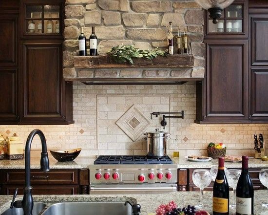 Attractive Pot Filler And Mantel On Vent Hood    Eclectic Kitchen Design, Pictures,  Remodel Design Ideas