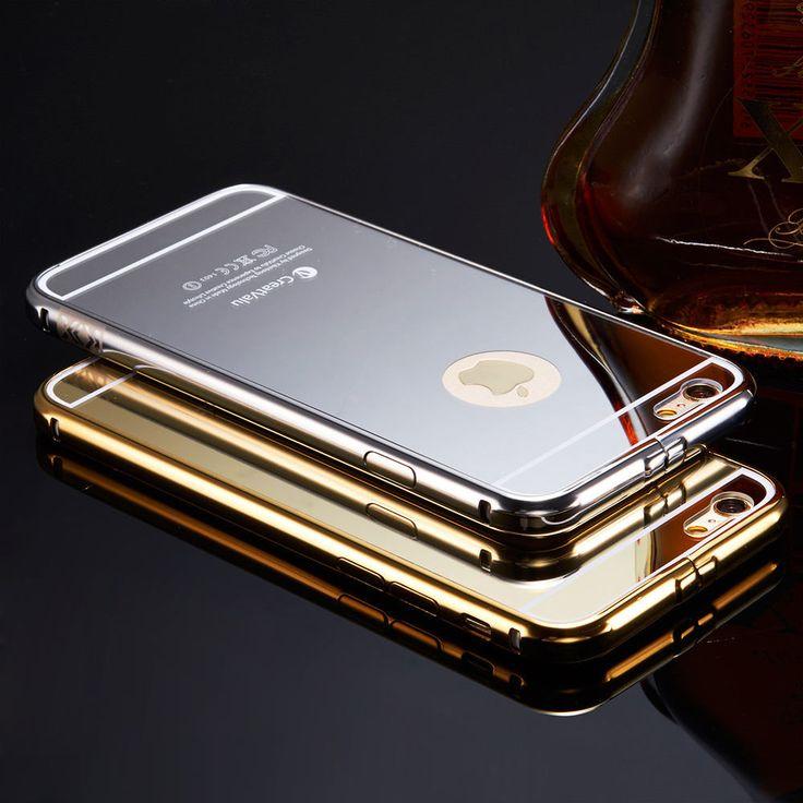 Details about luxury aluminum ultrathin mirror metal case