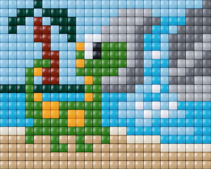 #pixelhobby #creatief #kids #pixelen #pixelgift #dino #doehetzelf