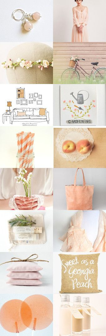 Summer Peach by Holly on Etsy--Pinned with TreasuryPin.com #Etsy #Treasury #Shopping #Summer #Summertrends #gifts #giftguide #fashion #style #homedecor #handmade #vintage