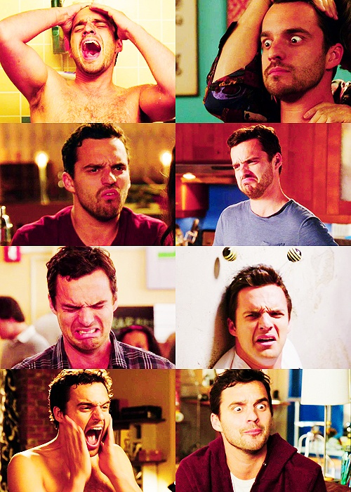 New Girl - NIck's beautiful facial expressions :) Watching the show right now and laughing my heart out <3
