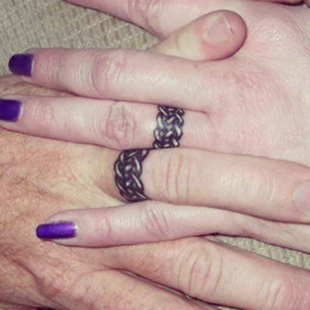 Pin for Later: 32 Real Couples Who Gave Up Their Engagement Rings For Tattoos Woven With Love