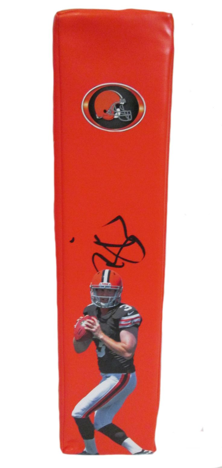 Brandon Weeden Autographed Cleveland Browns Football End Zone Touchdown Pylon, Proof  #BrandonWeeden #EndZonePylon #Pylon #TDPylon #NFLFootball #ClevelandBrowns #Cleveland #Browns #DawgPound #DogPound #NFL #Football #Autographed #Autographs #Signed #Signatures #Memorabilia #Collectibles #FreeShipping #BlackFriday #CyberMonday #AutographedwithProof