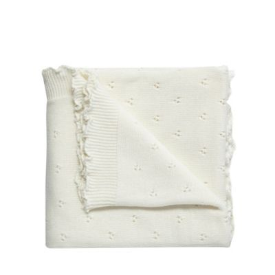 RJR.John Rocha Cream christening blanket- | Debenhams