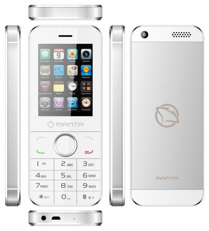 Alegerea perfectă pentru cei ce își doresc un telefon simplu și elegant: Manta MS2402 Dual SIM White, acum la doar 135 lei!  Bluetooth-ul încorporat permite comunicarea cu alte dispozitive sau utilizarea de kituri auto hands-free. Telefonul vine echipat cu radio și un media player pentru redarea de muzică MP3 și clipuri video.