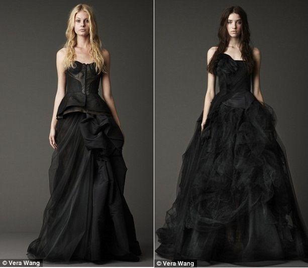 Vera Wong propone dei particolarissimi abiti da sposa neri.
