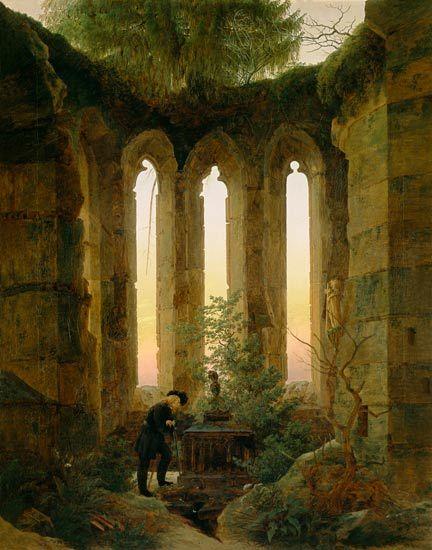 dessin romantisme ruines - Buscar con Google